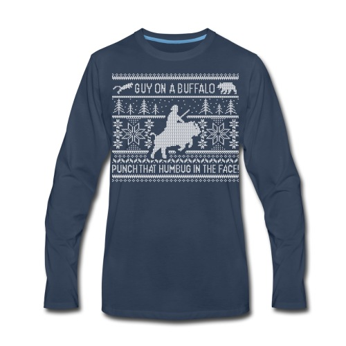 Guy on a Buffalo X-mas 17 - Men's Premium Long Sleeve T-Shirt