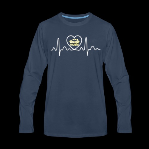 House Music Pulse! - Men's Premium Long Sleeve T-Shirt