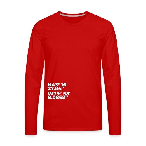 N43 W79 - Men's Premium Long Sleeve T-Shirt