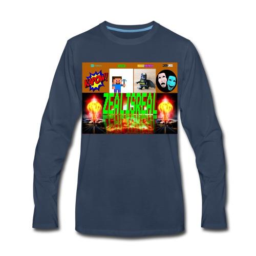 ZealisReal Banner - Men's Premium Long Sleeve T-Shirt