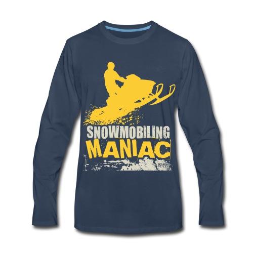 Snowmobiling Maniac - Men's Premium Long Sleeve T-Shirt
