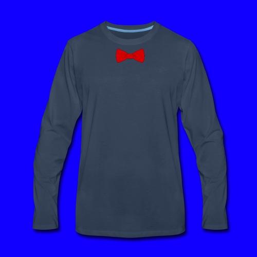 red bow tie - Men's Premium Long Sleeve T-Shirt