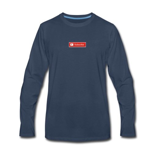 YOUTUBE SUBSCRIBE - Men's Premium Long Sleeve T-Shirt