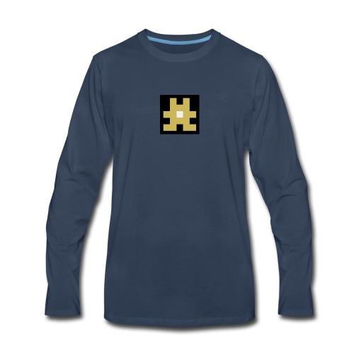 YELLOW hashtag - Men's Premium Long Sleeve T-Shirt