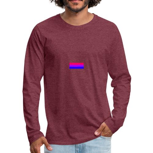 Bisexual Flag - Men's Premium Long Sleeve T-Shirt