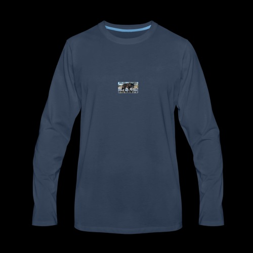 wolves and wolfdogs are not pets - Men's Premium Long Sleeve T-Shirt