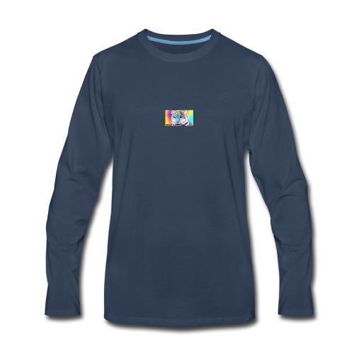 Rainbow Tiger Design Cases - Men's Premium Long Sleeve T-Shirt