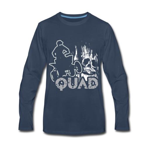 ATV Quad Skull Screamer - Men's Premium Long Sleeve T-Shirt