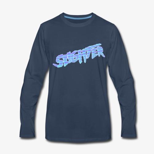 Retro Logo Glitch 2 - Men's Premium Long Sleeve T-Shirt