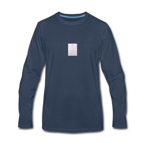 foot/ paw prints in the sand - Men's Premium Long Sleeve T-Shirt