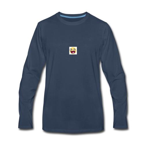 LOGIC Bitz Smily - Men's Premium Long Sleeve T-Shirt
