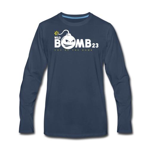 WildBomb23 White - Men's Premium Long Sleeve T-Shirt