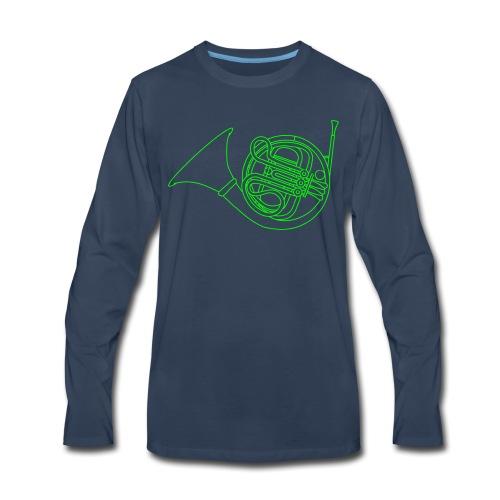 French horn brass - Men's Premium Long Sleeve T-Shirt