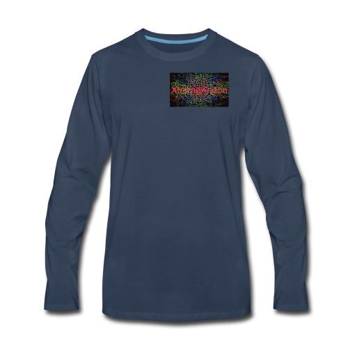 X-tremeKneon logo (YouTuber) - Men's Premium Long Sleeve T-Shirt