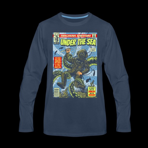 Under the Sea Comic Adventure - Men's Premium Long Sleeve T-Shirt