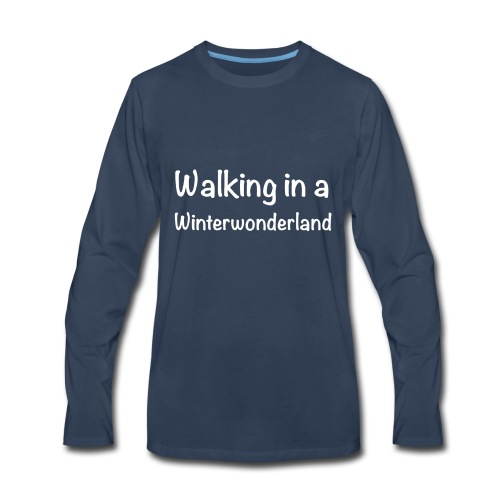 Walking in a Winterwonderland weiss - Men's Premium Long Sleeve T-Shirt