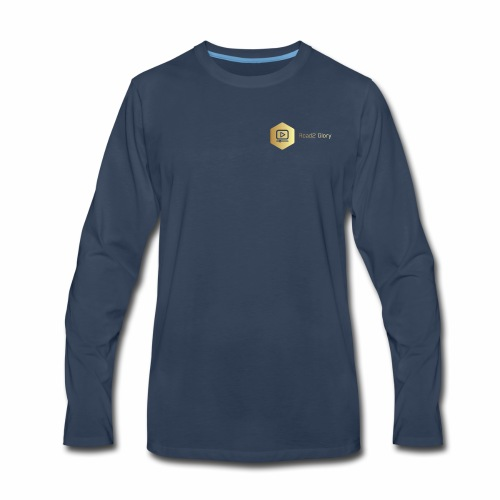 Golden Road2 Glory Badge - Men's Premium Long Sleeve T-Shirt