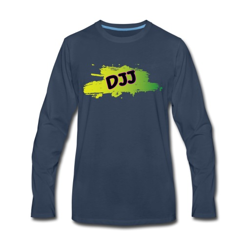DJJ Green splash - Men's Premium Long Sleeve T-Shirt