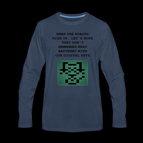 Funny Digital Pet Graphic - Men's Premium Long Sleeve T-Shirt