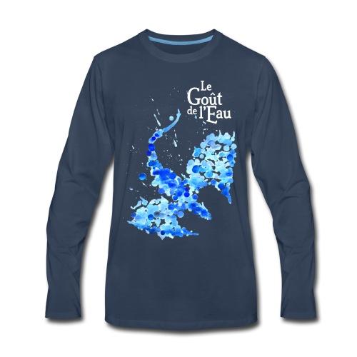 Dragon gouttes logo blanc png - T-shirt Premium à manches longues pour hommes