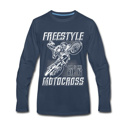 Freestyle Motocross Stunt - Men's Premium Long Sleeve T-Shirt