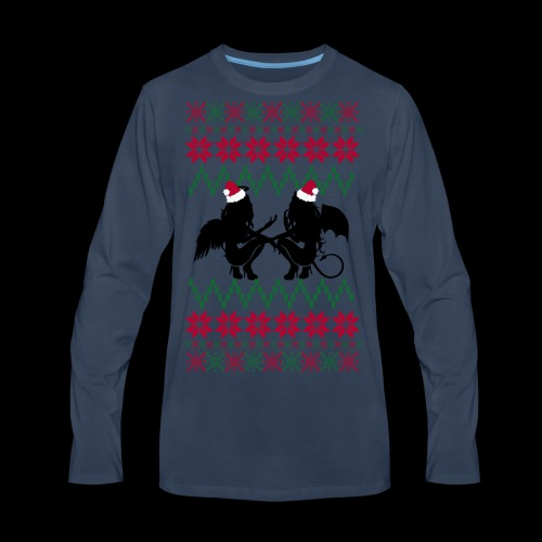 Gastric Girls Gab Ugly X-Mas Sweater - Men's Premium Long Sleeve T-Shirt