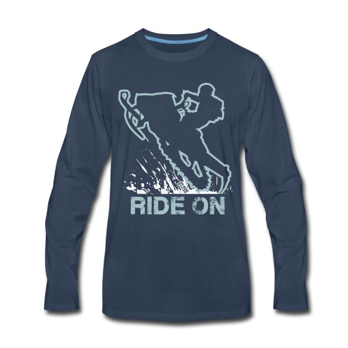 Snowmobile Ride On Sled - Men's Premium Long Sleeve T-Shirt