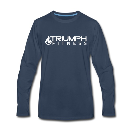 triumph 03 clear white - Men's Premium Long Sleeve T-Shirt