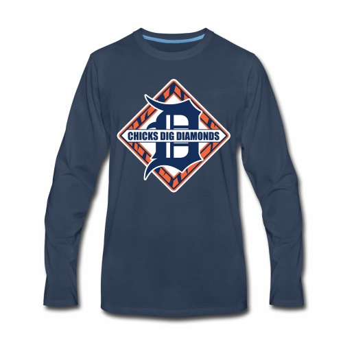 Chicks Dig Diamonds - Men's Premium Long Sleeve T-Shirt