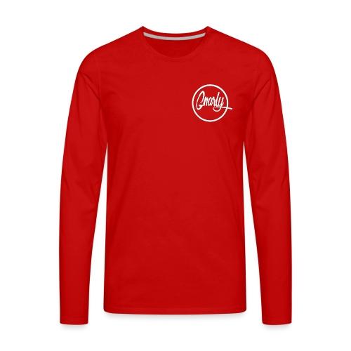 Gnarly Brand White - Men's Premium Long Sleeve T-Shirt