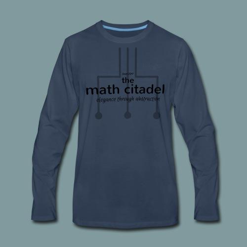 Abstract Math Citadel - Men's Premium Long Sleeve T-Shirt