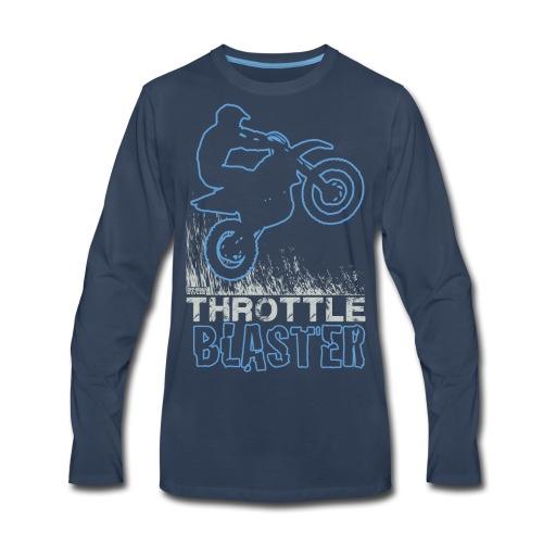 Dirt Bike Throttle Blast - Men's Premium Long Sleeve T-Shirt