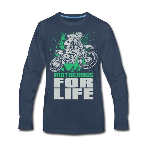 Motocross For Life Stunt - Men's Premium Long Sleeve T-Shirt