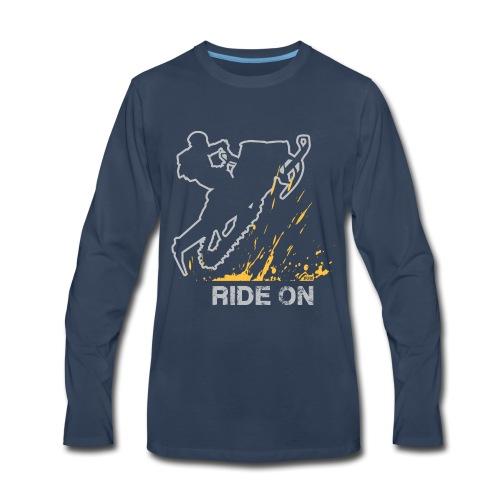 Snowmobile Ride On - Men's Premium Long Sleeve T-Shirt
