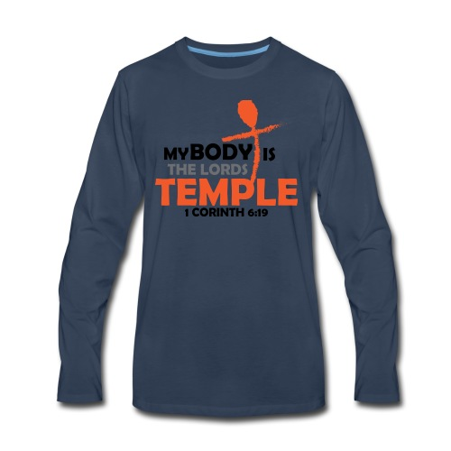 My body/Lords Temple - Men's Premium Long Sleeve T-Shirt