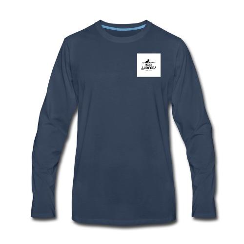 logo ecriture noir fonds blanc - Men's Premium Long Sleeve T-Shirt