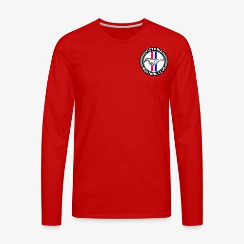 Victoria Mustang Club Logo - Men's Premium Long Sleeve T-Shirt