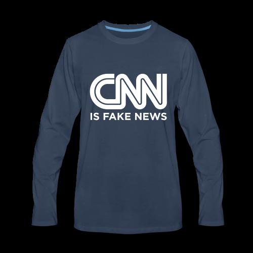 CNN Is Fake News - Men's Premium Long Sleeve T-Shirt