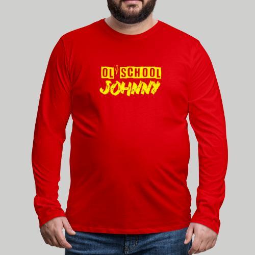 Ol' School Johnny Logo in Yellow - Men's Premium Long Sleeve T-Shirt