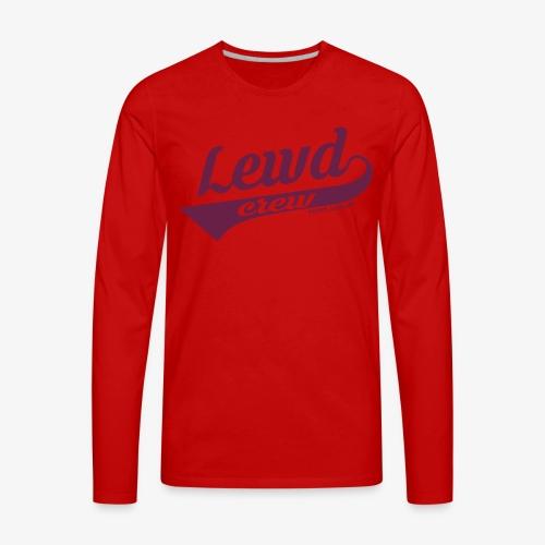 Lewd Crew - Twitch Rudh - Men's Premium Long Sleeve T-Shirt