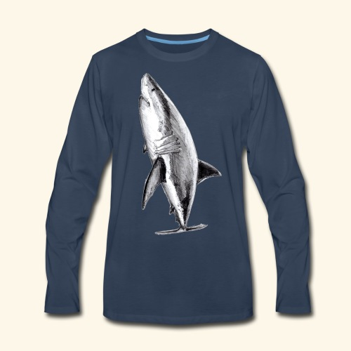 White shark design - Men's Premium Long Sleeve T-Shirt