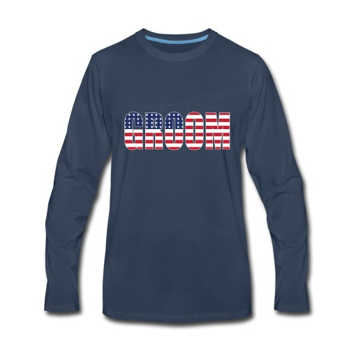 Groom US Flag - Men's Premium Long Sleeve T-Shirt