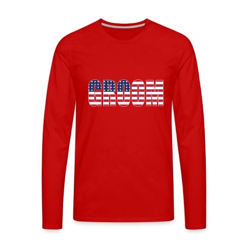 Groom US Flag - Men's Premium Long Sleeve T-Shirt