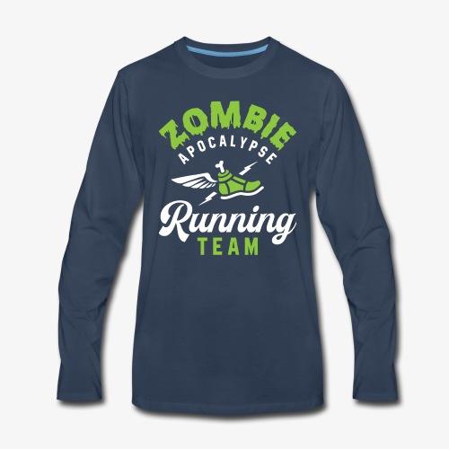 Zombie Apocalypse Running Team - Men's Premium Long Sleeve T-Shirt