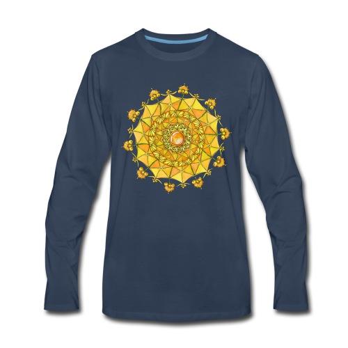 Zentangle Mandala Navel Manipura Chakra - Men's Premium Long Sleeve T-Shirt