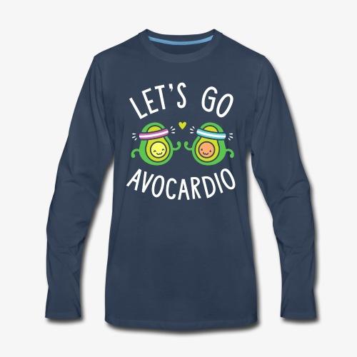 Let's Go Avocardio | Cute Avocado Pun - Men's Premium Long Sleeve T-Shirt