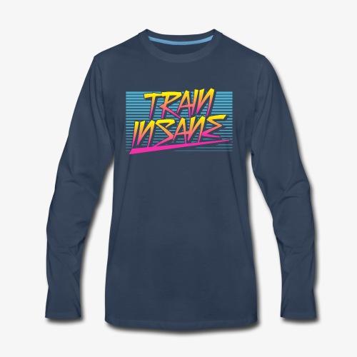 Train Insane Retro - Men's Premium Long Sleeve T-Shirt