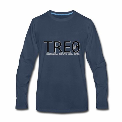 TRE0 Brand Glow White - Men's Premium Long Sleeve T-Shirt