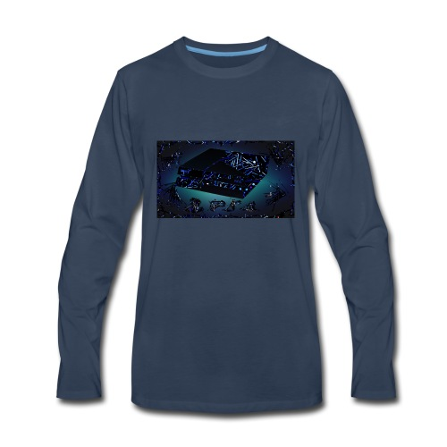 ps4 back grownd - Men's Premium Long Sleeve T-Shirt