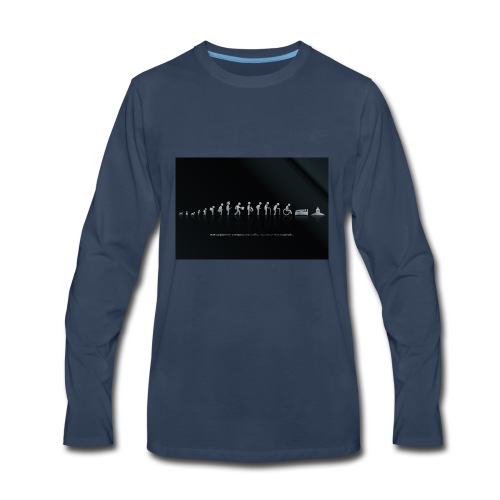 DIFFERENT STAGES OF HUMAN - Men's Premium Long Sleeve T-Shirt
